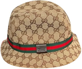 Gucci Brown Cotton Hats