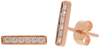 Nephora 14K Rose Gold 0.12 Ct. Tw. Diamond Bar Studs