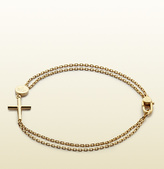 Gucci Bracelet With Cross And Trademark Engraved Tag