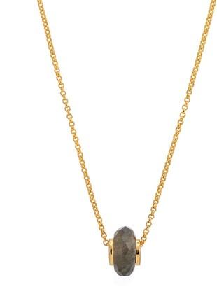 Katie Belle Libbie 18ct Gold Vermeil Charm Necklace - Labradorite