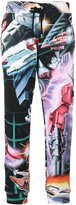 Moschino Transformer print track trousers - women - Cotton - 38
