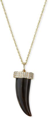 Sydney Evan 14k Diamond & Medium Horn Pendant Necklace