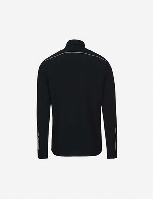 Reiss Player piping-trimmed regular-fit woven shirt