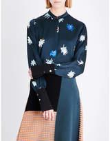 Roksanda Carone graphic floral-print silk shirt