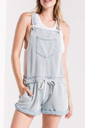Z Supply Zsupply Knit Denim Shortalls