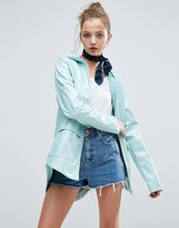 Asos Vinyl Rain Trench With Mesh Lining