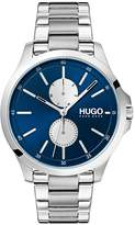 Hugo Blue Dial Silver Stainless Steel