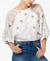 Free People Carolina Embroidered Lace Top