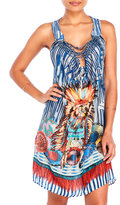 save the queen Printed Draped Silk Cover-Up Dress