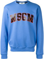 MSGM logo print sweatshirt - men - Cotton - XS