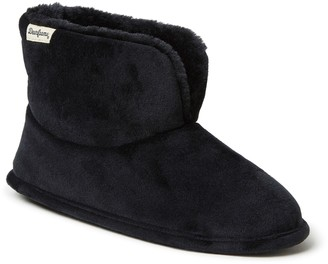 Dearfoams Velour Slipper Booties