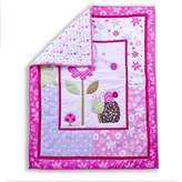 Dream On Me Spring Time 2 Piece Playard Set, Pink/White by