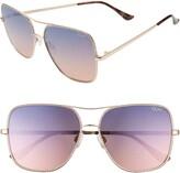 Quay x Chrissy Teigen Stop and Stare Twist 56mm Sunglasses