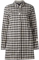 Woolrich checked mid coat