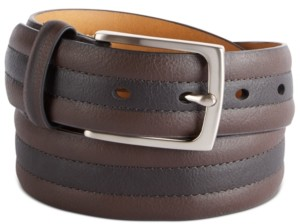 Club Room Men's Two-Tone Belt, Created for Macy's