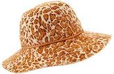 Helen Kaminski Fifika Printed Felt Hat, Leopard