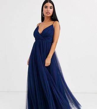 ASOS DESIGN Petite cami pleated tulle maxi dress