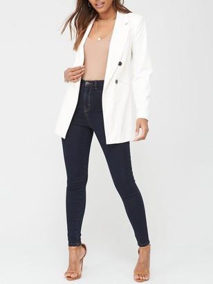 Very Addison Super High Waisted Super Skinny Jeans - Dark Wash