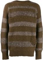 Maison Flaneur striped knit sweater
