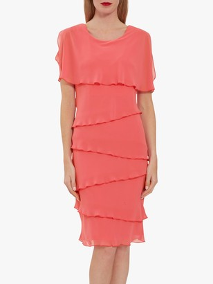 Gina Bacconi Leonora Tiered Chiffon Dress