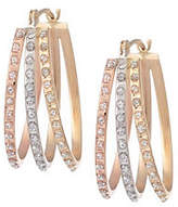 Diamond Fascination Oval Flare Hoop Earrings, 1