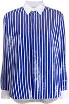Polo Ralph Lauren long sleeve sequin-embellished striped short