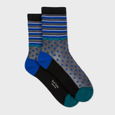 Paul Smith Women's Black Semi-Sheer 'Abigail Spot' Socks