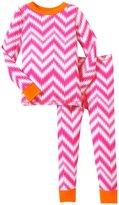 Masala Chevron PJ Set (Toddler/Kid) - Pink/Orange-3T