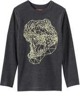 Joe Fresh Kid Boys' Geometric Print Tee, Dark Grey Mix (Size S)