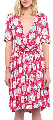 French Connection Cari Meadow Jersey Dress, Azalea/Multi