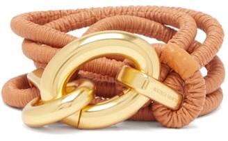 Bottega Veneta Doubled Ruched-leather Belt - Tan