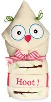 Silly PhillieTM Creations Owl Character Hooded Towel Gift Set