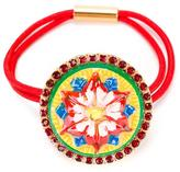 Dolce & Gabbana Mambo motif elasticated hairband - kids - Polyurethane/metal/glass - One Size