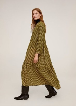 MANGO Check shirt dress yellow - 4 - Women