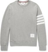 Thom Browne Striped Loopback Cotton-Jersey Sweatshirt