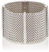 Sidney Garber Women's White-Diamond-Accented Mesh-Chain Bracelet