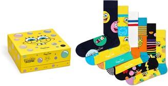 Happy Socks x SpongeBob 6-Pack Crew Socks
