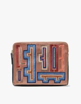 Lizzie Fortunato Safari Clutch in Hanoi Print