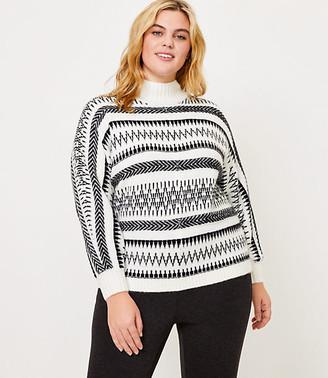 LOFT Plus Fair Isle Poncho Sweater
