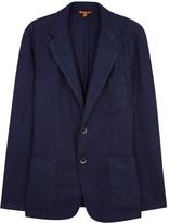 Barena Navy Linen Blend Jacket