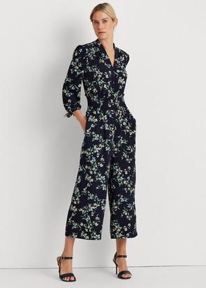 Ralph Lauren Floral Crepe Bubble Jumpsuit