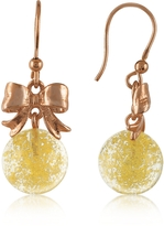 Murano Naoto Yellow Round Drop Earrings