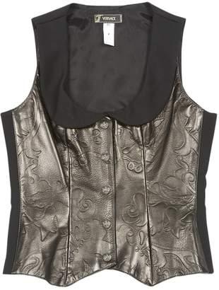 Versace Black Leather Jackets