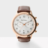 Paul Smith Men's White And Brown 'Precision' Chronograph Watch