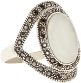 Accessorize Marquesite Shield Ring