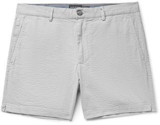 Club Monaco Jax Slim-Fit Stretch-Cotton Seersucker Shorts