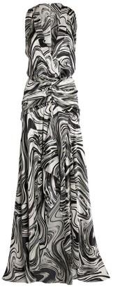 Silvia Tcherassi Egle Marble Sleeveless Dress