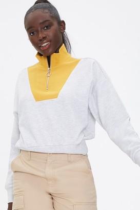 Forever 21 Colorblock Half-Zip Pullover