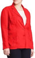 Lauren Ralph Lauren Plus Linen Blazer