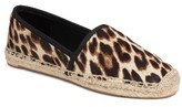 Tory Burch Women's Elisa Genuine Calf Hair Espadrille Flat